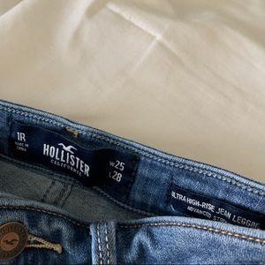 medium blue ultra high rise jeans